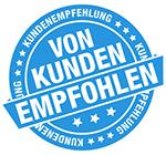 Logoentwicklung von Kunden empfohlen